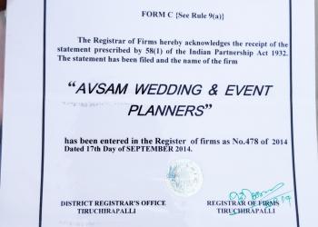 wedding event management in trichy